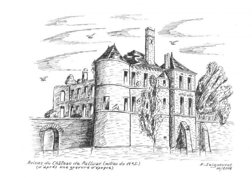 Dessin du Château de Palluau