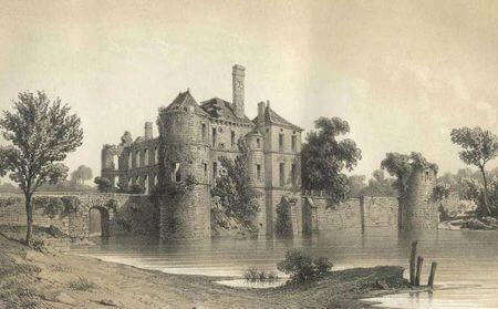 Ruines du château de Palluau, par Th. Drake (mi-XIXe siècle)